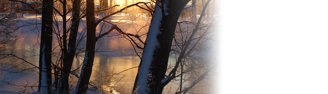 Vinterdag vid sjön Hulingen