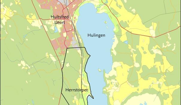 Karta över Herrstorpet