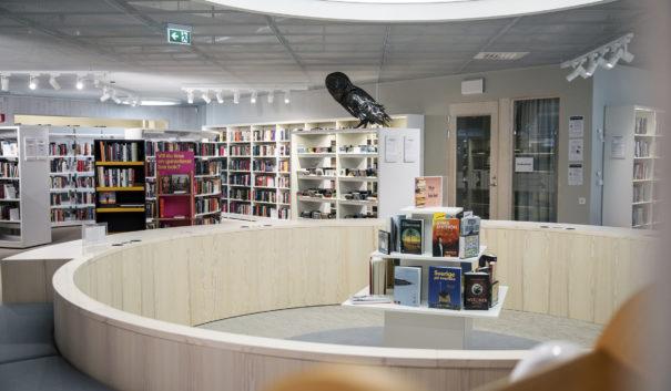 Bild inifrån nya biblioteket