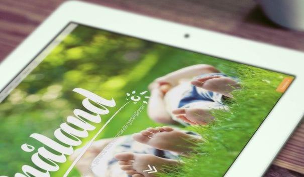 iPad med texten Snåland