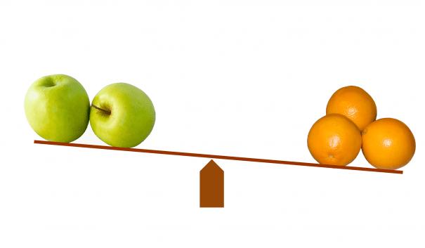 äpplen och apelsiner