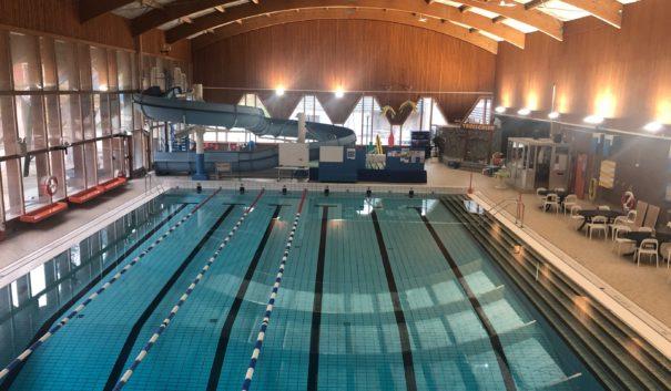 Stora bassängen i Hagadal sim- och sporthall