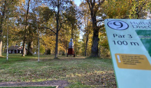Discgolf i Hultsfreds hembygdspark